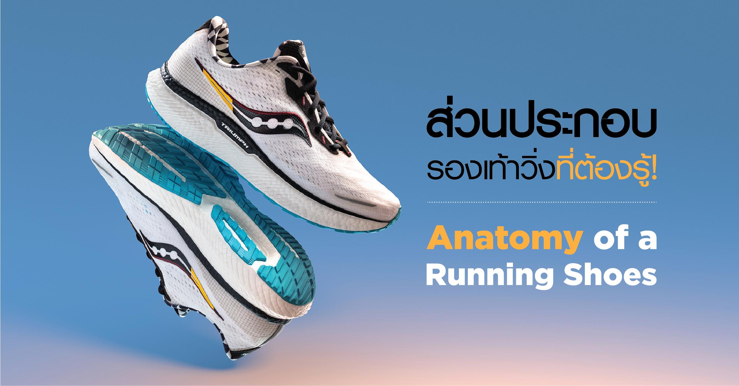 คู่มือซื้อรองเท้าวิ่ง : มารู้จักกับส่วนต่างๆ ของรองเท้าวิ่งกันเถอะ
